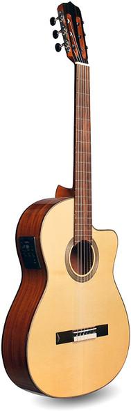 Cordoba Fusion 12 Natural SP Crossover Cutaway Acoustic-Electric Nylon String Guitar, Fusion Series