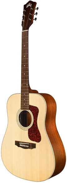 Guild Guitars D-240E LH Lefty Acoustic Guitar, in Natural, Dreadnought Archback Solid Top, Westerly Collection