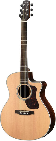 Walden G800CE W/Gig Bag Natura All-Solid Sitka/Rosewood Grand Auditorium Acoustic Cutaway-Electric Guitar - Satin Natural