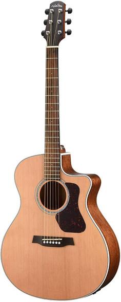 Walden G770CE W/Gig Bag Natura All-Solid Cedar/Mahogany Grand Auditorium Acoustic Cutaway-Electric Guitar - Satin Natural