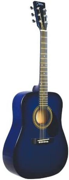 Johnson JG-610-BL-½ 610 Player Series ½ Size Acoustic Guitar, Blue