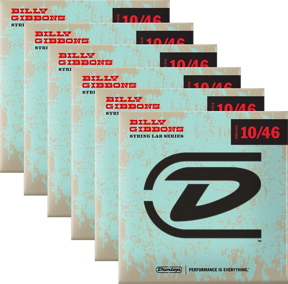 Dunlop Rev. Willy's Electric Guitar Strings 10-46 Box of 6 Sets