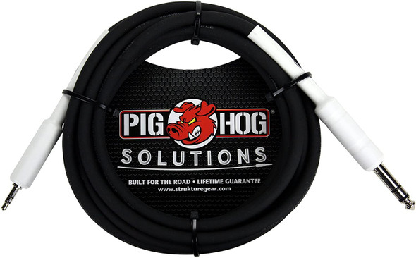 """Pig Hog PX48J6 1/4"""" TRS to 3.5mm Mini Instrument Cable, 6 Feet"""