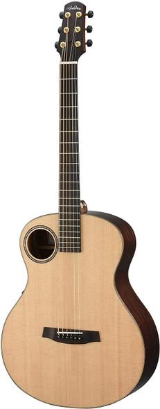 Walden B1E W/Case Baritone Solid Sitka top Grand Auditorium Baritone-Electric Guitar - Satin Natural