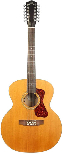 Guild Guitars Westerly Collection Acoustic-Electric Guitar, Right, Blonde (F-2512E Maple 12-string)