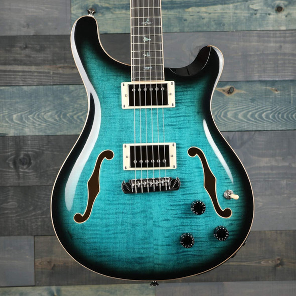 PRS SE Hollowbody II Piezo Semi-Hollow Body Electric Guitar (Peacock Blue)