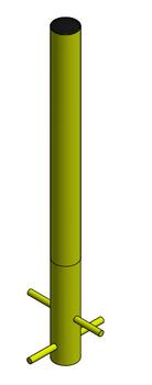 "6"" Diameter, 48"" Tall Buried Bollard (Yellow)"