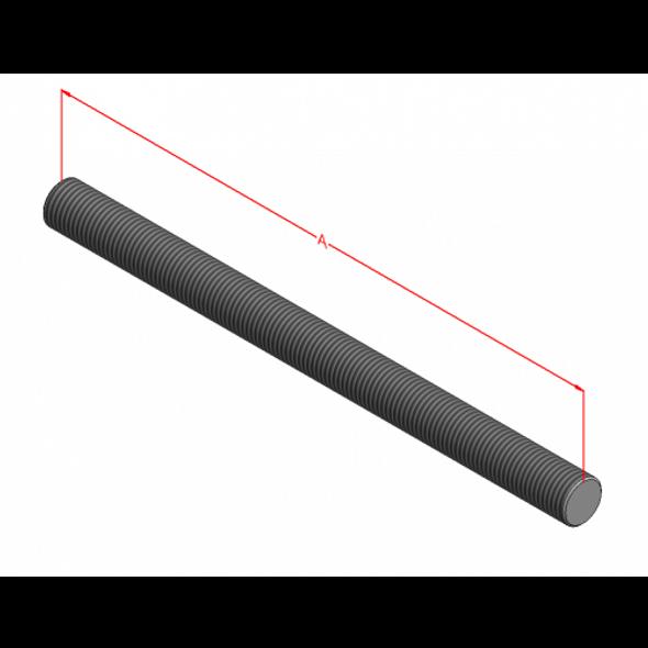 """1-1/4-7"""" B7 Threaded Rod (Plain)"""