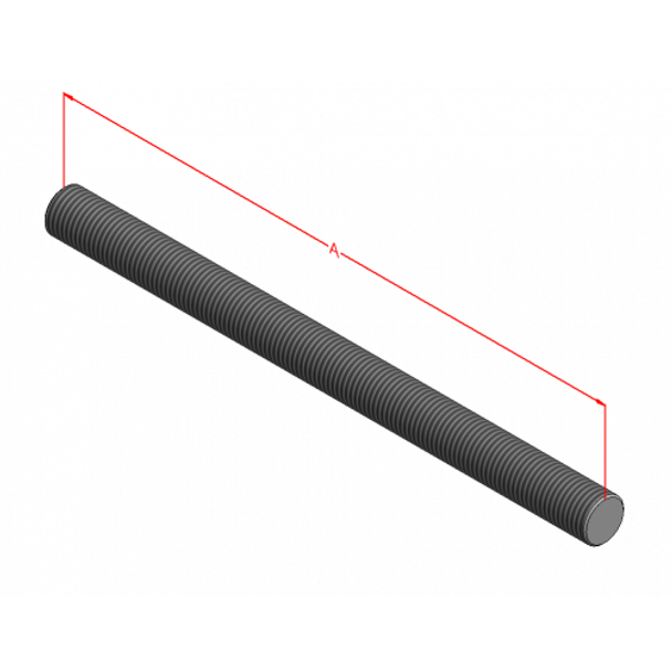 "1/2-13"" 316 Threaded Rod (Stainless)"