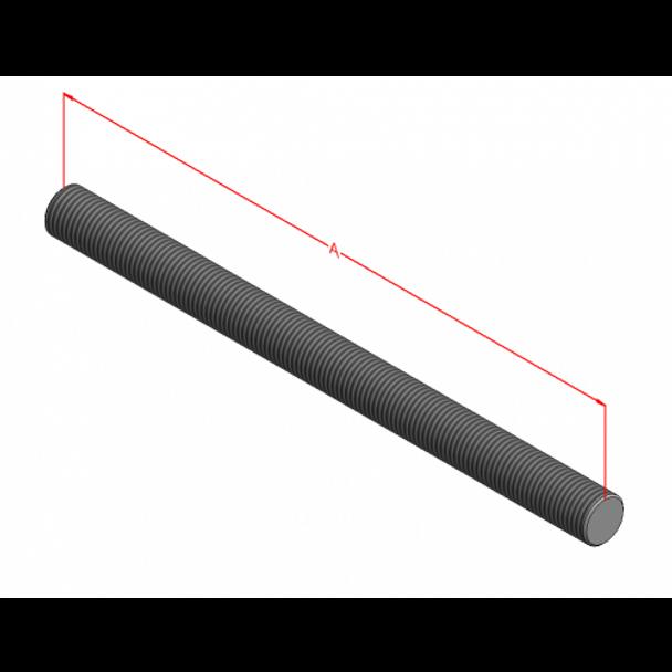 """7/8-9"""" B7 Threaded Rod (Plain)"""