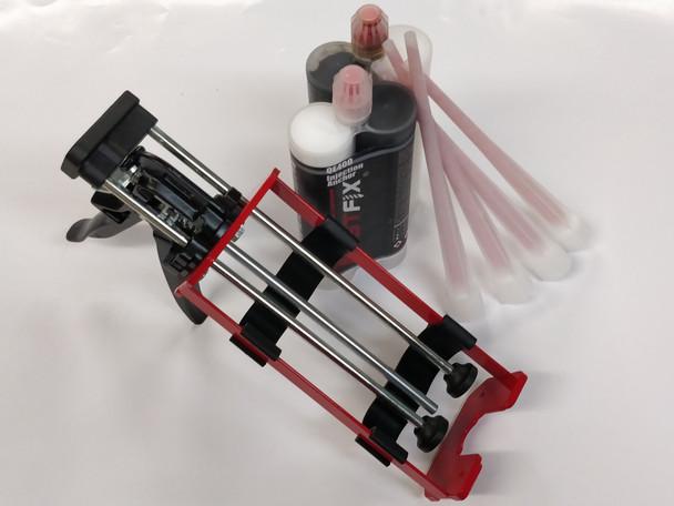 2 QE400 Two-Part Epoxy 4 Mixing Tips 400mL Dispensing Gun
