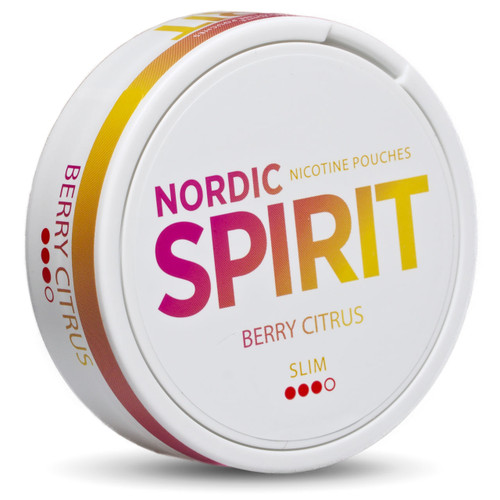 A can of Nordic Spirit berry citrus