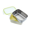 Keepin' Fresh Stainless Bento Snack or Lunch Box with Lid for Kids and Toddlers 15 oz - Alligator / Blue / 15 oz