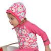 Kinderspel Rash Guard Swimsuit Set with Cap & Water bag  for girl