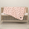 """Little Fennec Organic Cotton 2-ply Knit Cuddle Blanket for babies and toddlers 41"""" x 41"""" ( Various Patterns)"""