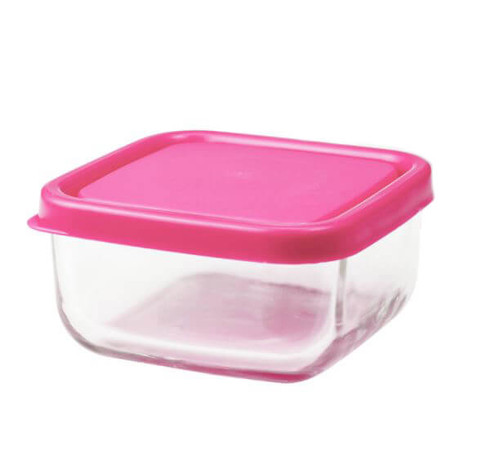 Glass Tot Food Cubes - PINK / 3 oz / 1 Pack
