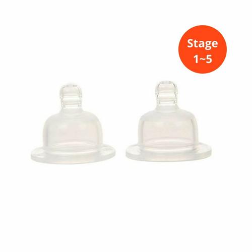 Nursin' SMART Natural Nipple-2pack-stage 1-5