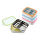 Keepin' Fresh Stainless Steel Divided Bento Snack Box with Lid for Kids and Toddlers - BPA Free - Green / 11 oz