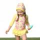 Kinderspel Rash Guard Swimsuit Set w/ cap & water bag / flower clusters