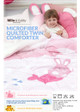 "Microfiber Quilted Comforter / Twin size / 59""x78"""