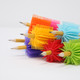 SPIKE SILICONE FIDGET TACTILE PENCIL GRIP (PARTY PACK 24 COUNT) (ASSORTED COLORS)