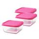 Glass Tot Food Cubes-Green 12 oz (2) + Pink 3 oz (5) *Open Stock*