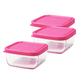 Glass Tot Food Cubes-Pink/ 3 oz / 3 Pack*Open Stock*