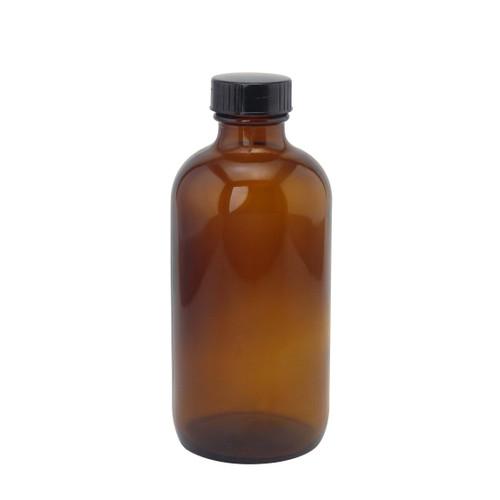 8oz glass amber bottle
