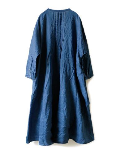 Picture No.2 of KAPITAL French Cross Linen Pin-tuck Okiefe Dress K1502OP187EK-435EK-909