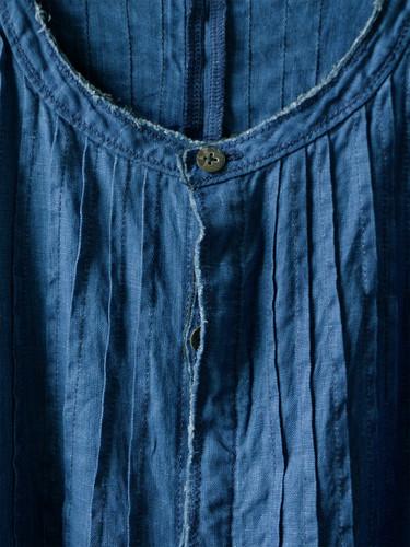 Picture No.3 of KAPITAL French Cross Linen Pin-tuck Okiefe Dress K1502OP187EK-435EK-909