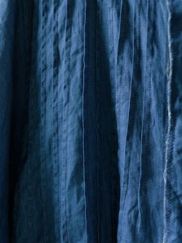 Picture No.4 of KAPITAL French Cross Linen Pin-tuck Okiefe Dress K1502OP187EK-435EK-909