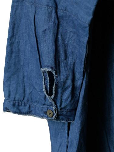 Picture No.6 of KAPITAL French Cross Linen Pin-tuck Okiefe Dress K1502OP187EK-435EK-909