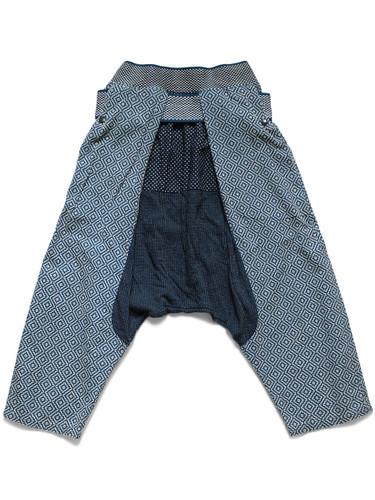 Picture No.1 of KAPITAL IDG Patchwork Shimokita Nora Wear Pants (Kakinohana Sashiko) K2005LP172