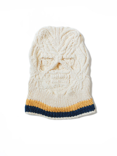 Picture No.1 of KAPITAL Cotton Hand Knit SKULL Beanie K2005KN543