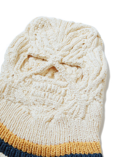 Picture No.3 of KAPITAL Cotton Hand Knit SKULL Beanie K2005KN543