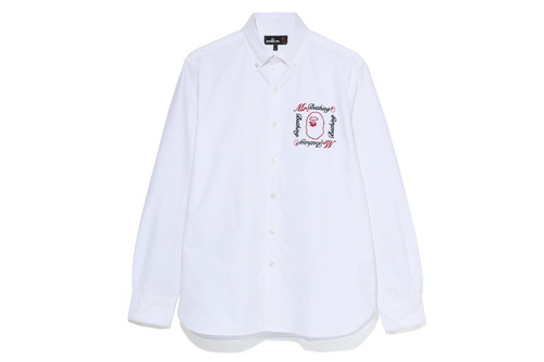 Picture No.5 of BAPE MR EMBROIDERY BD SHIRT 7F80-131-007