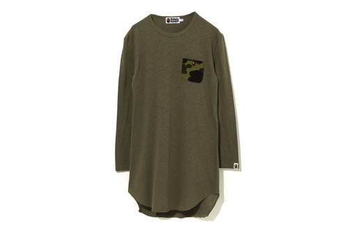 Picture No.1 of BAPE 1ST CAMO POCKET L/S TEE ONEPIECE 1H30-235-503