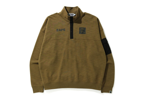 Picture No.6 of BAPE STAND COLLAR LOOSE FIT SWEAT 1H30-113-004