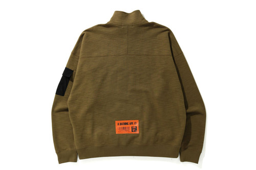 Picture No.7 of BAPE STAND COLLAR LOOSE FIT SWEAT 1H30-113-004