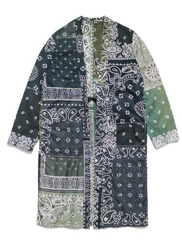 Picture No.1 of KAPITAL Gauze Bandana Patchwork pt Reversible KAKASHI Coat EK-1067