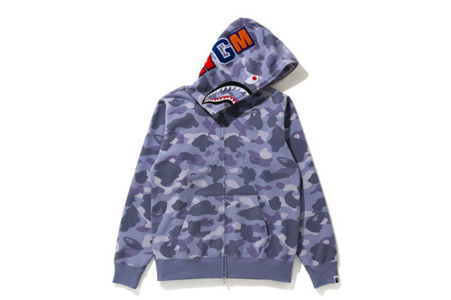 Picture No.1 of BAPE COLOR CAMO SHARK FULL ZIP HOODIE 1H30-215-504