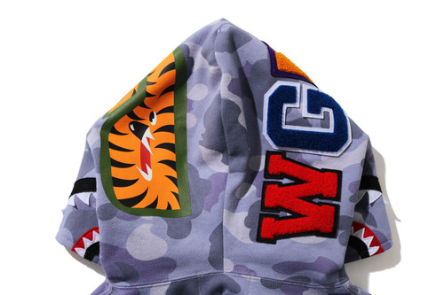 Picture No.3 of BAPE COLOR CAMO SHARK FULL ZIP HOODIE 1H30-215-504