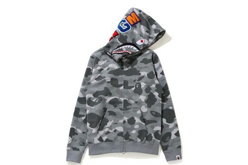 Picture No.4 of BAPE COLOR CAMO SHARK FULL ZIP HOODIE 1H30-215-504