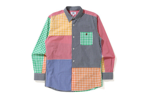 Picture No.1 of BAPE GINGHAM CHECK MULTI PATTERN SHIRT 1H30-131-001