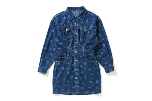 Picture No.1 of BAPE SHARK PATTERN DENIM ONEPIECE 1H30-235-504
