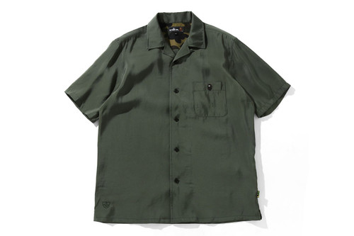Picture No.1 of BAPE ONE POINT OPEN COLLAR S/S SHIRT 7H30-131-004
