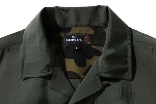 Picture No.2 of BAPE ONE POINT OPEN COLLAR S/S SHIRT 7H30-131-004