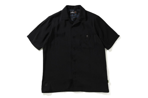 Picture No.6 of BAPE ONE POINT OPEN COLLAR S/S SHIRT 7H30-131-004
