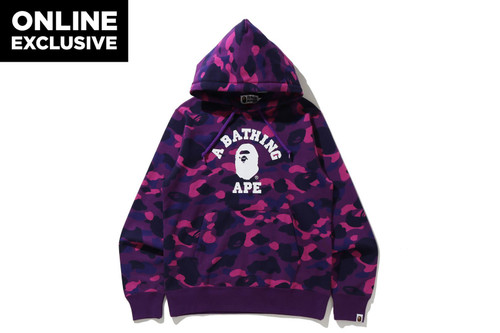 Picture No.1 of BAPE COLOR CAMO COLLEGE PULLOVER HOODIE -ONLINE EXCLUSIVE- 1H25-114-018