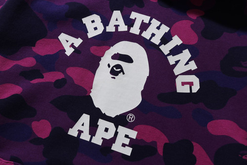 Picture No.2 of BAPE COLOR CAMO COLLEGE PULLOVER HOODIE -ONLINE EXCLUSIVE- 1H25-114-018